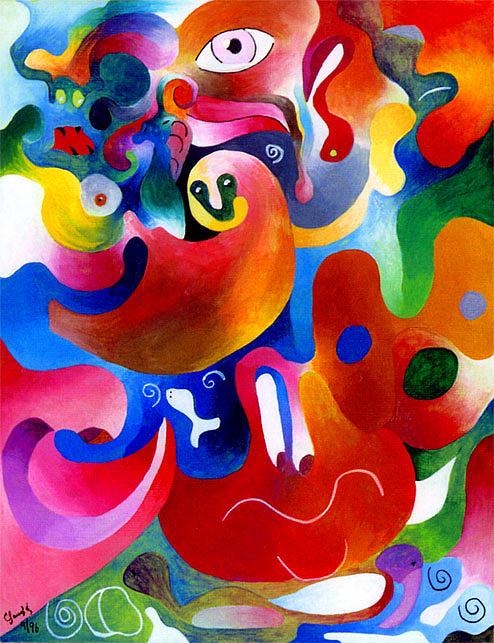 Bajo El Mar Painting by Claudio  Espinosa