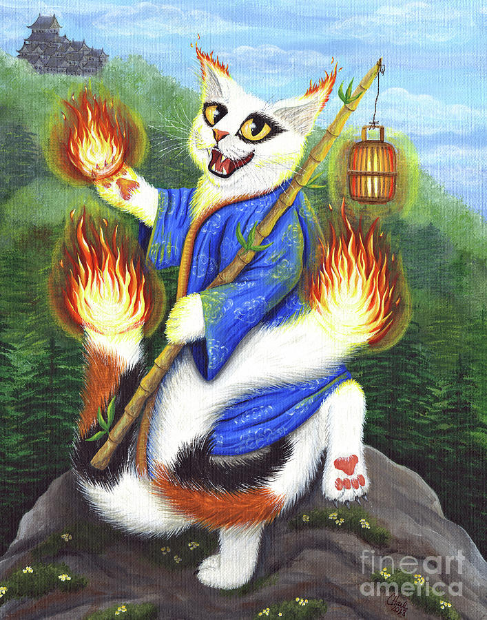 Bakeneko Nekomata - Japanese Monster Cat by Carrie Hawks