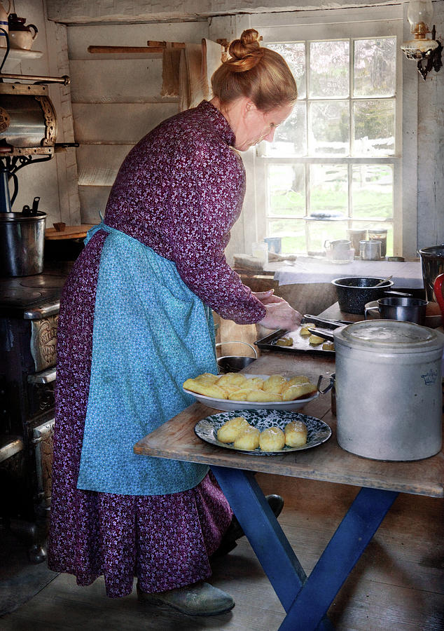 Country Photograph - Baker - Preparing Dinner by Mike Savad