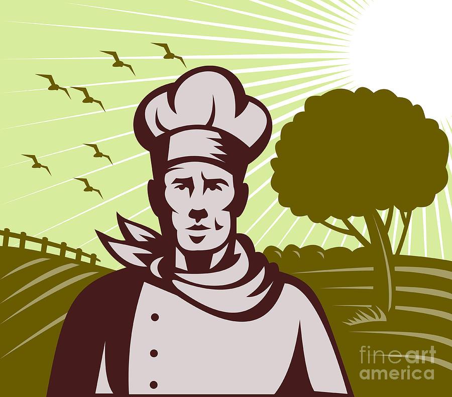 Organic Digital Art - Baker Chef  by Aloysius Patrimonio