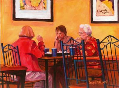 Bakery Painting - Baker Street Discussion by Jayne Rose