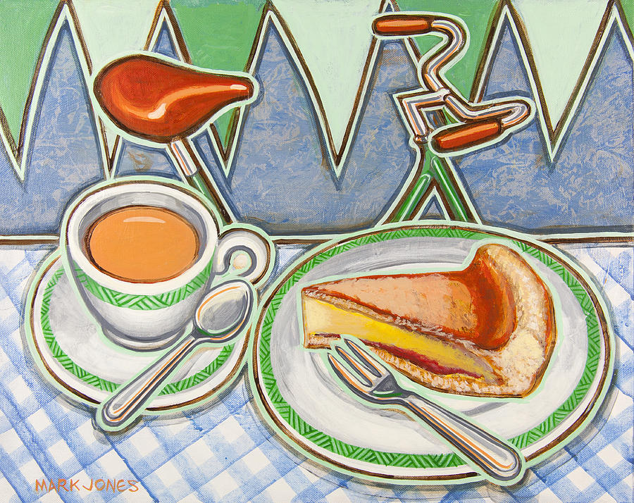 Eroica Painting - Bakewell Pudding And Cup Of Tea At Eroica Britannia  by Mark Jones