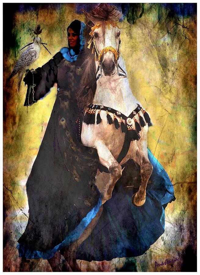 Rearing Horse Photograph - Bakhtiari Falconess by Anastasia Savage Ealy