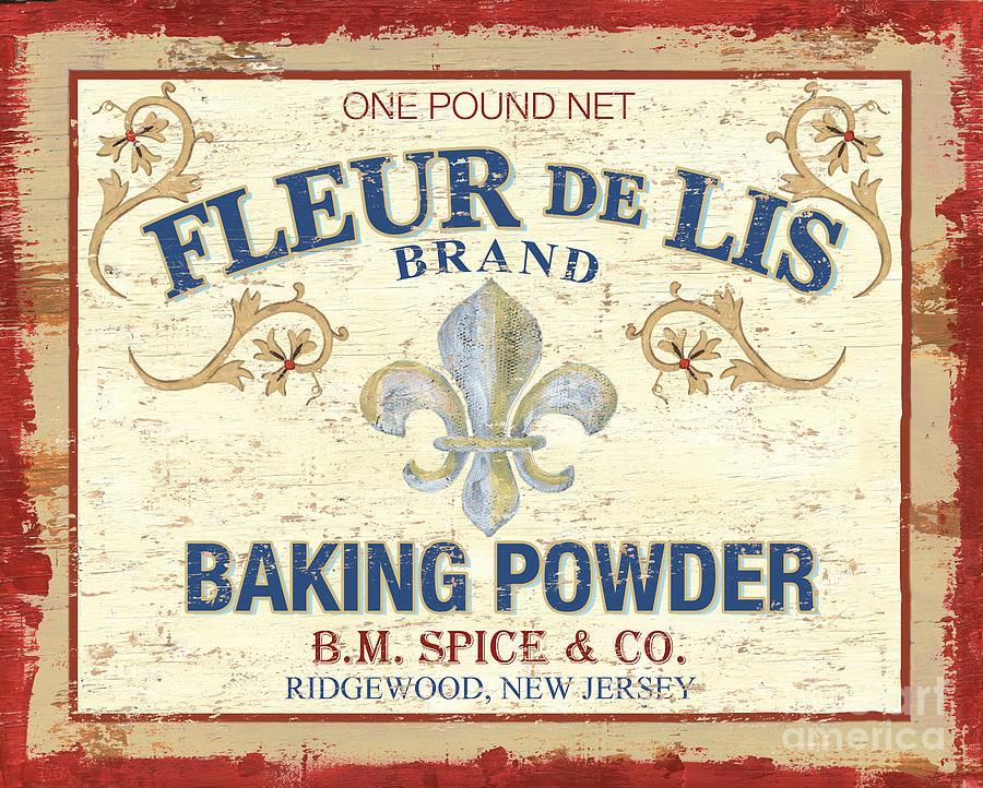 Baking Powder Painting - Baking Powder Fleur De Lis by Debbie DeWitt