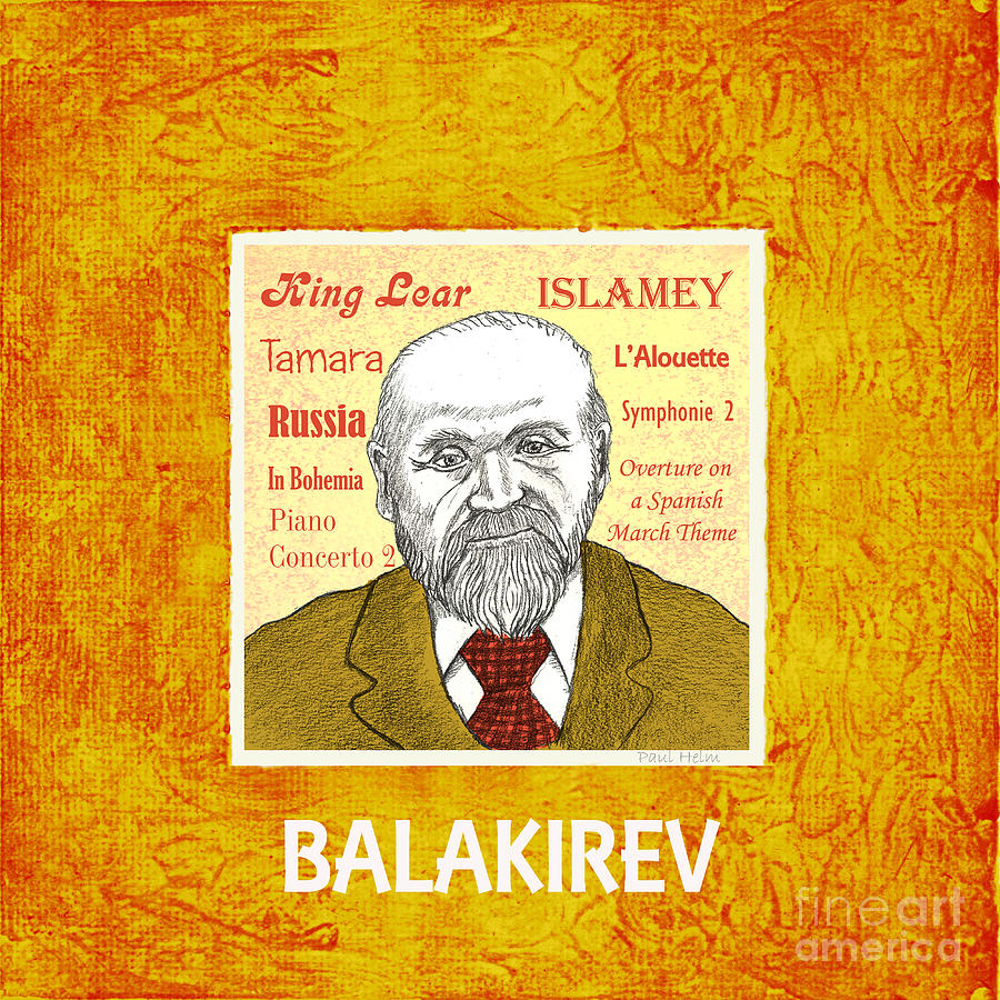 Balakirev Drawing - Balakirev by Paul Helm