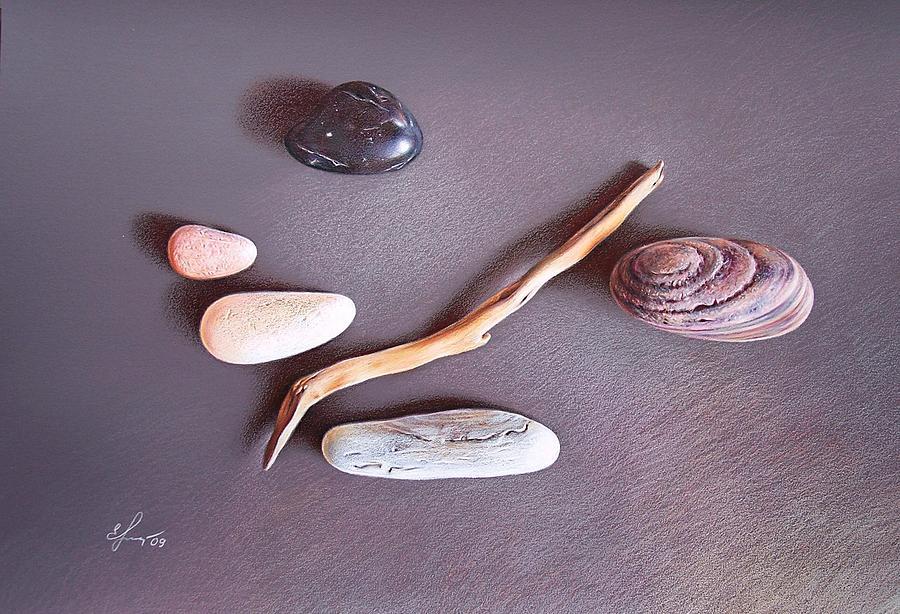 Still Life Drawing - Balance 2 by Elena Kolotusha