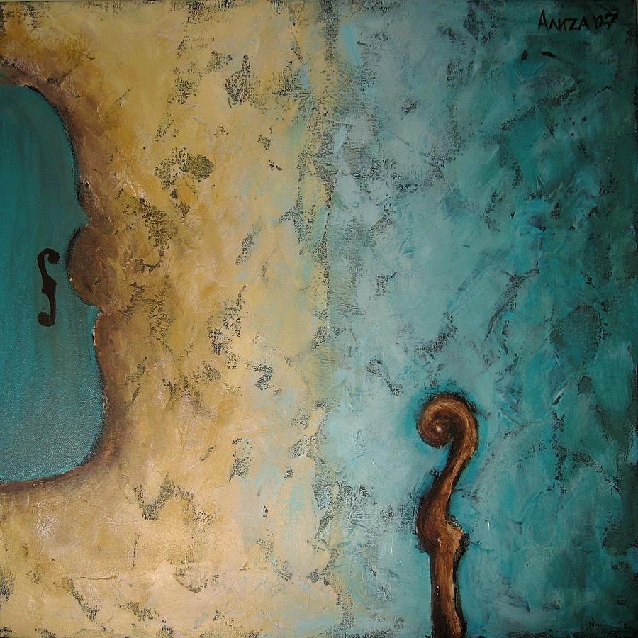Violin Painting - Balance by Aliza Souleyeva-Alexander