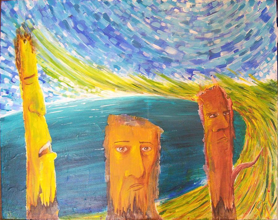 Three Painting - Balance Of Three by Harminder Paul