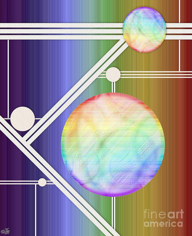 Circles Digital Art - Balance by Sue Gardiner
