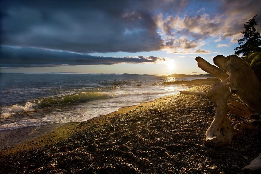 Beach Photograph - Balanced Evening by Mike Reid
