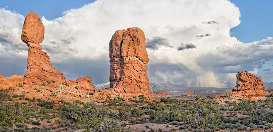 Arches National Park Photograph - Balanced Rock At Arches National Park by Jim Vallee