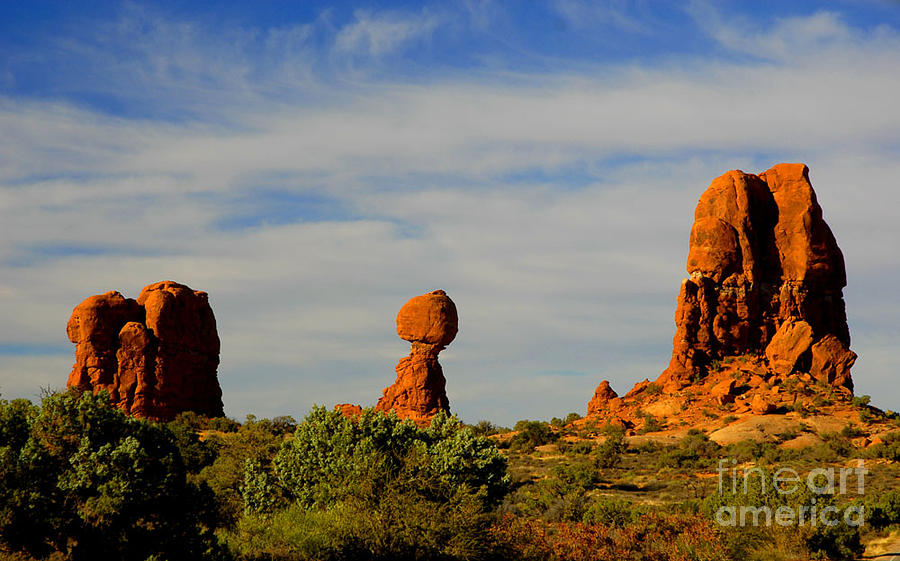 Arches Photograph - Balanced Rock by Dennis Hammer