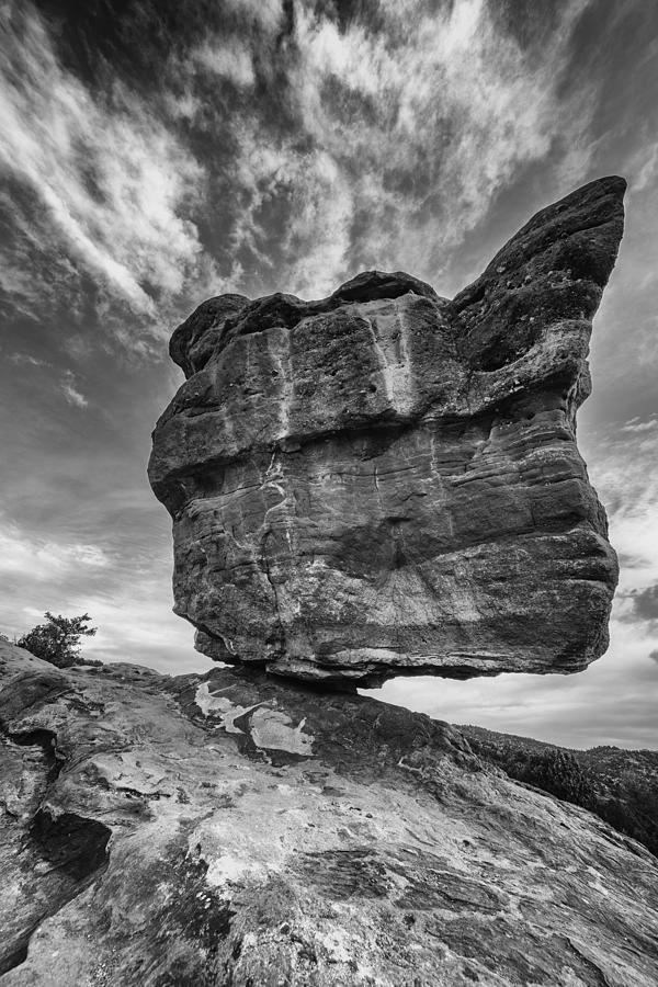 Balanced Rock Monochrome Photograph