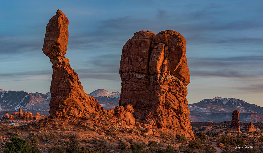 Arches National Park Photograph - Balanced Rock Sunset by Dan Norris