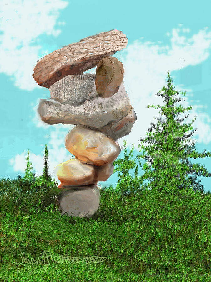 Balanced Rocks 6 Digital Art By Jim Hubbard