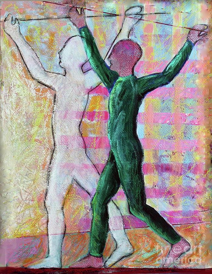 Abstract Painting - Balancing Joy by Priti Lathia