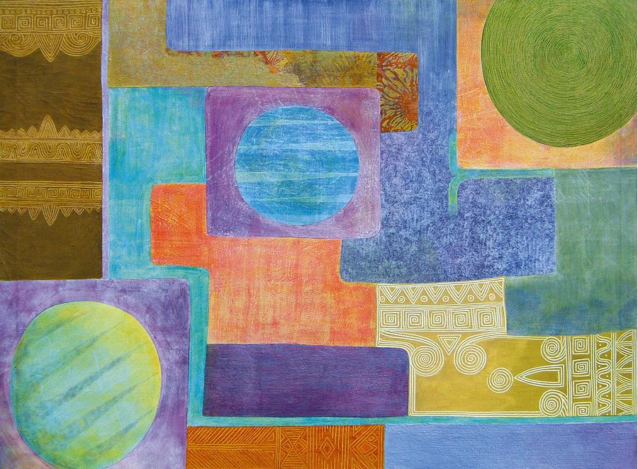 Abstract Painting - Balancing The Elements by Jennifer Baird