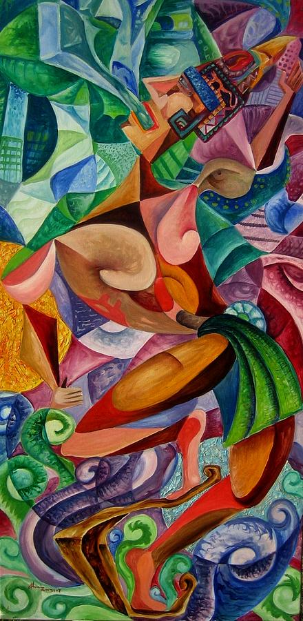 Paintings Painting - Balancing With What Is Given by Horacio  Montes