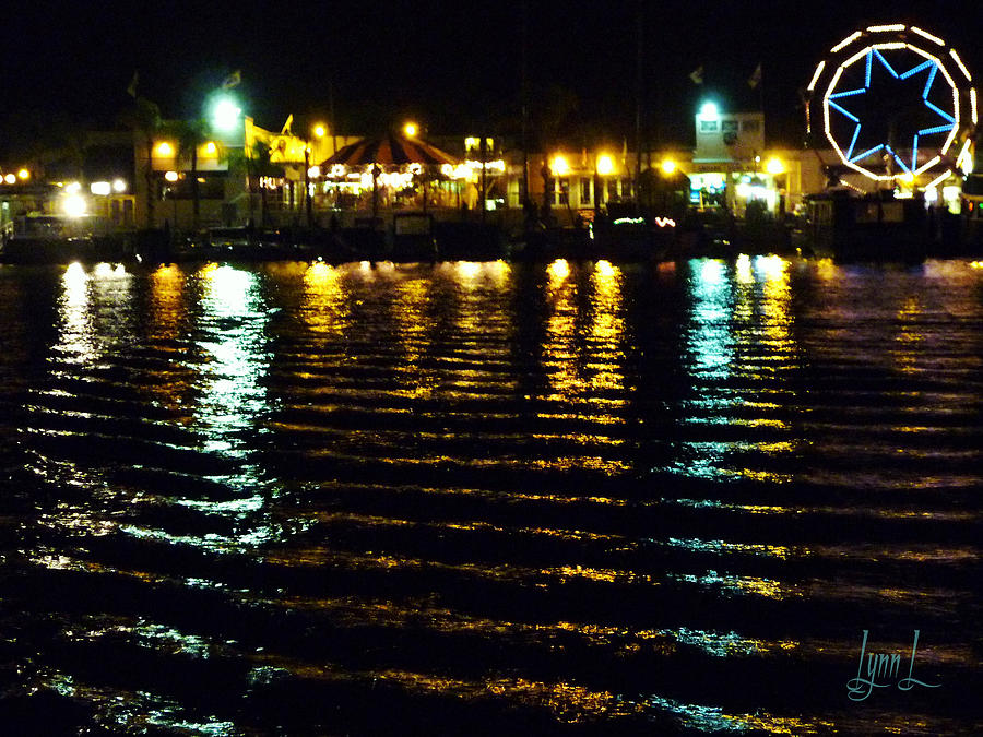 Newport Bay Photograph - Balboa Night by S Lynn Lehman