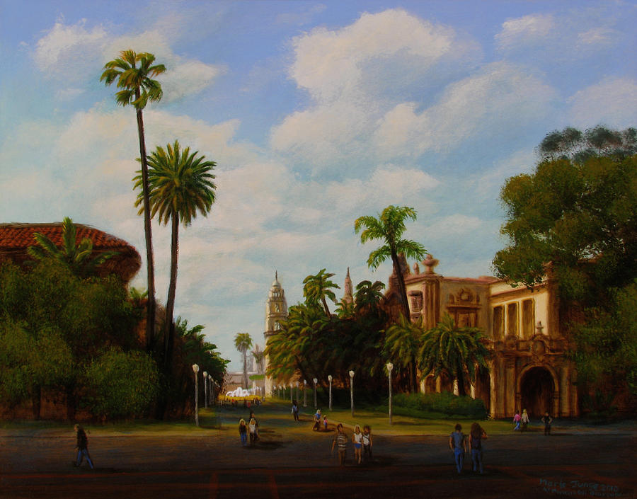 San Diego Painting - Balboa Park by Mark Junge