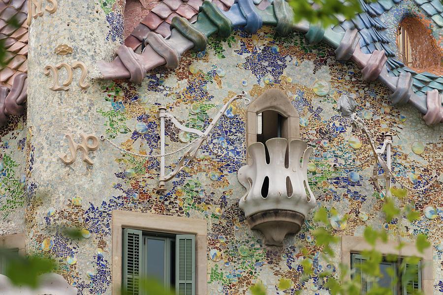 Passeig De Gracia Photograph - Balcionies Of Casa Batllo In Barcelona, Spain by Blaz Gvajc
