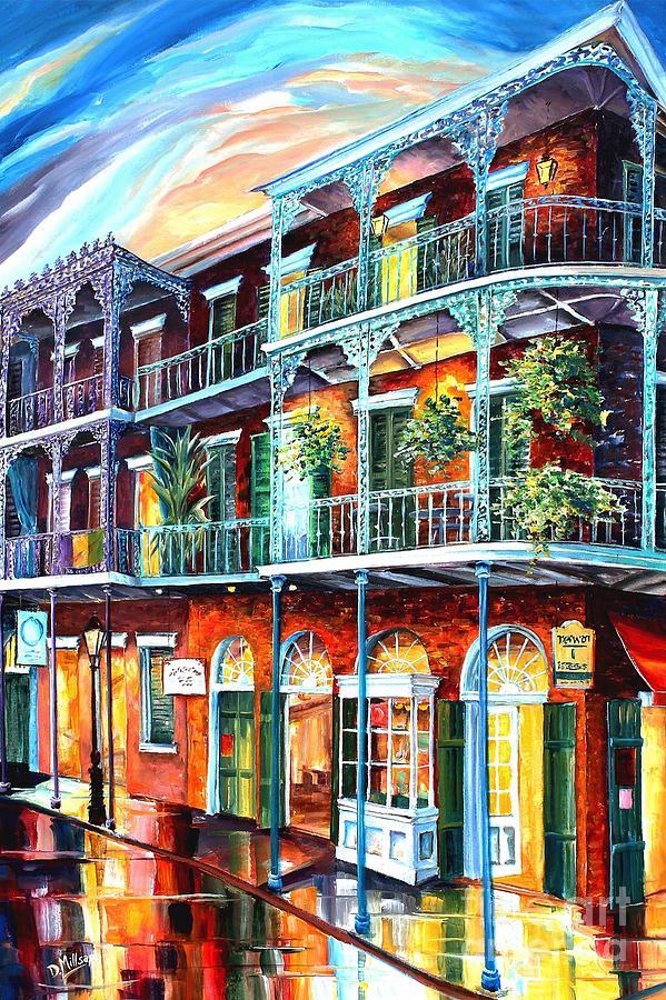 New Orleans Painting - Balconies on St. Peter Street by Diane Millsap