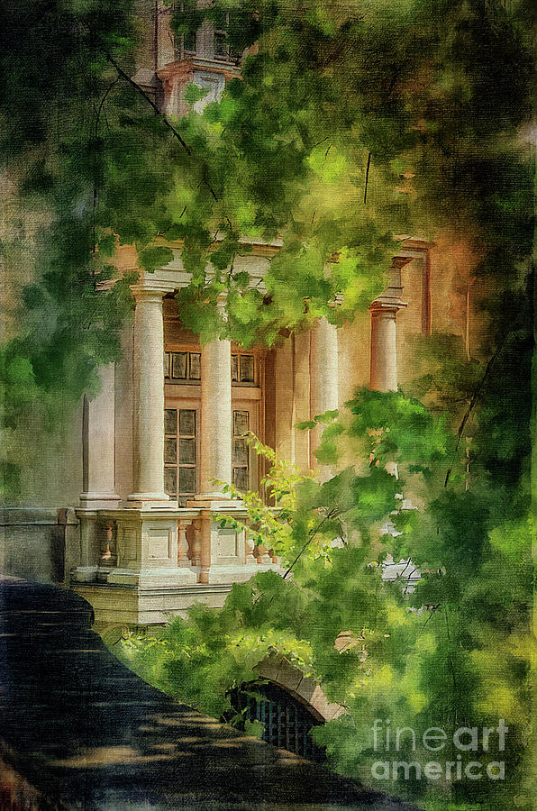 Winterthur Digital Art - Balcony At Winterthur by Lois Bryan