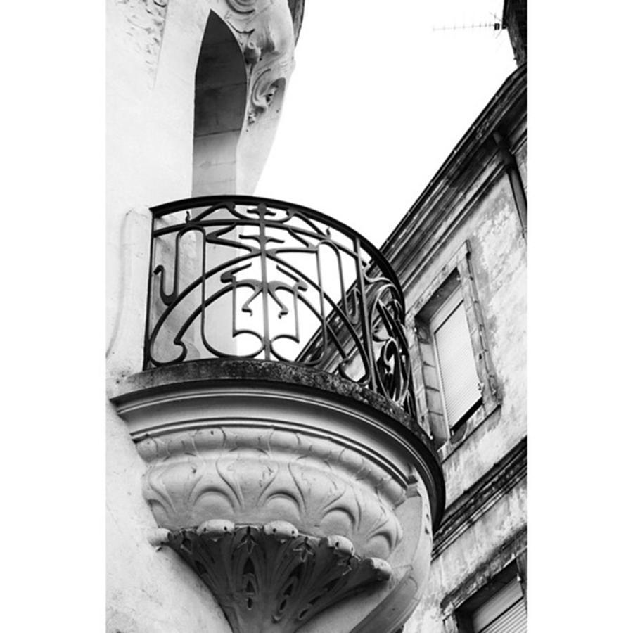 Europe Photograph - Balcony Detail #artnouveau #agen by Georgia Fowler