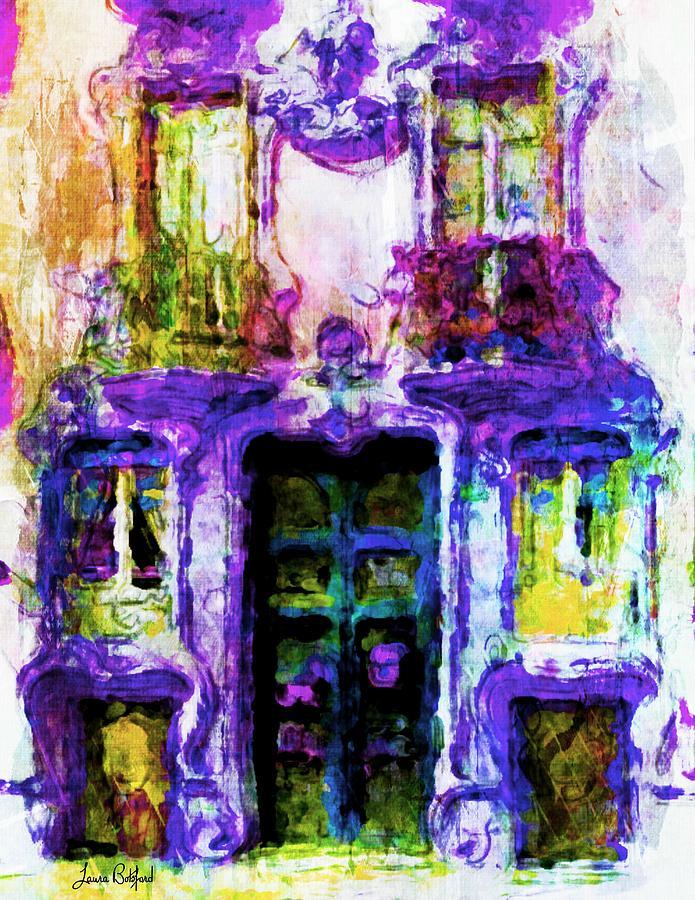 Balcony Painting - Balcony of Poets by Laura Botsford