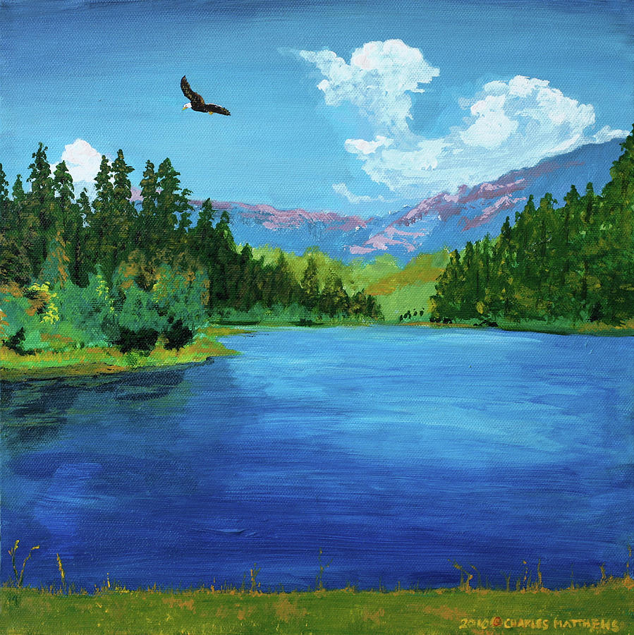 Bald Eagle At Hume Lake Psalm 103 Verse 5 Charles And Stacey Matthews on Outdoor Metal Wall Art
