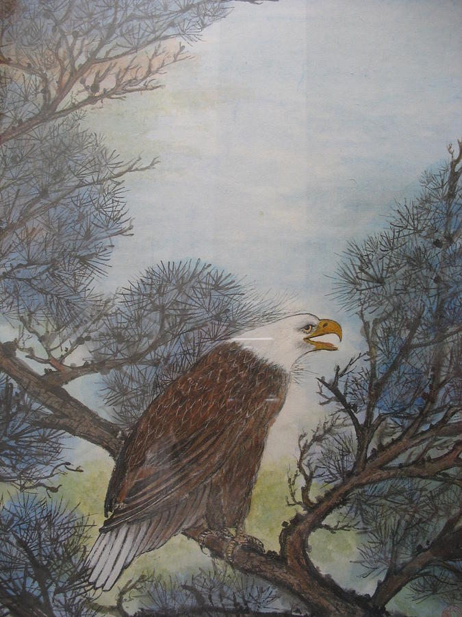 Eagle Painting - Bald Eagle by Gerry Fong