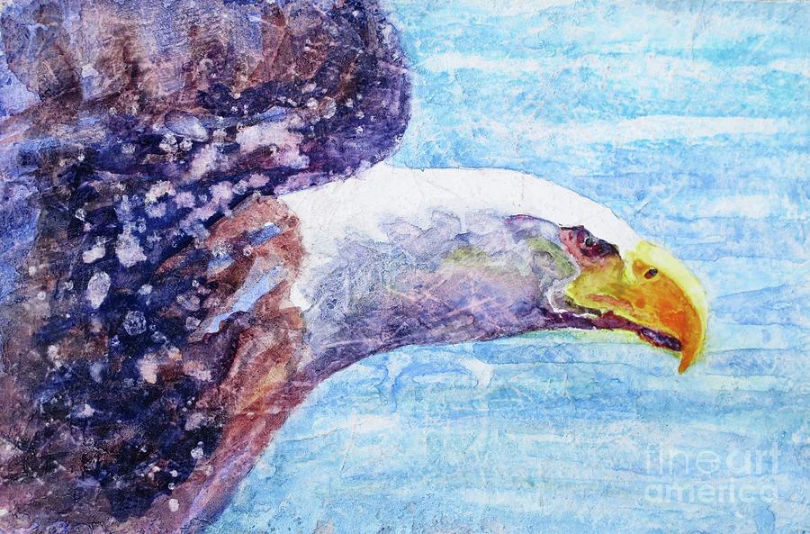 Bald Eagle In Flight Painting - Bald Eagle Portrait 2 by Bonnie Rinier