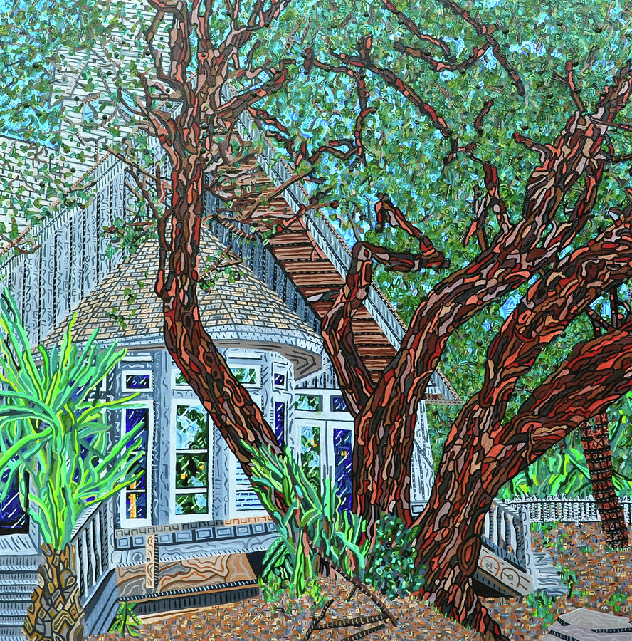 Bald Head Island Painting - Bald Head Island, Village Chapel by Micah Mullen