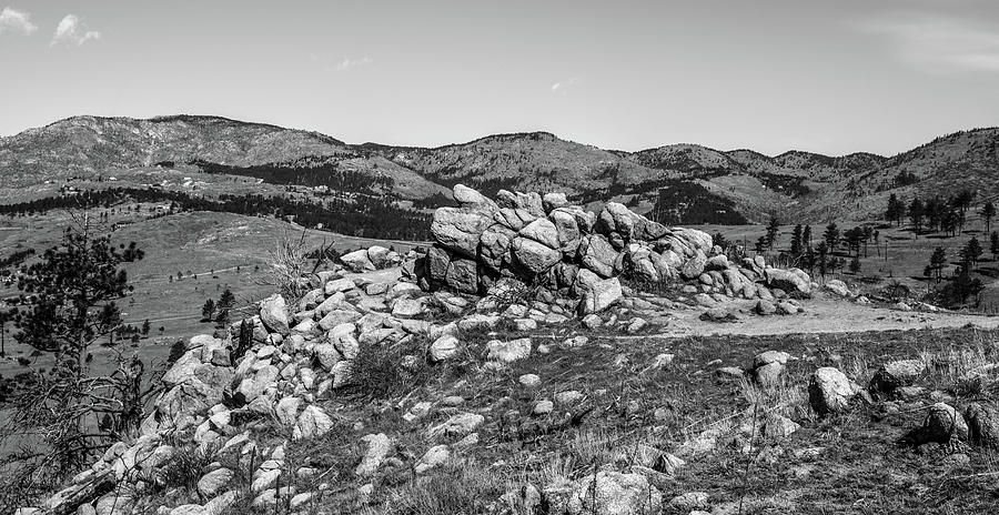 Black And White Photograph - Bald Mountain Rock Formation In Black And White by Michael Putthoff