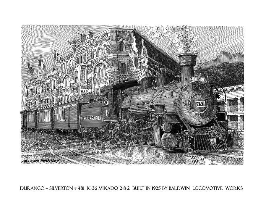 Baldwin 481 2 8 2 Narrow Gauge Steam Locomotive Drawing by ...