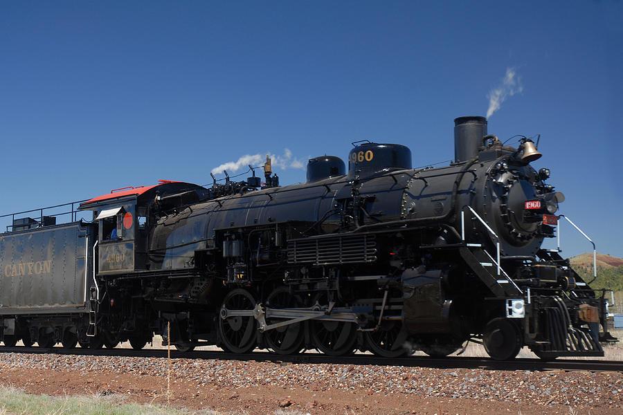 Steam Photograph - Baldwin Mikado 2-8-2 No 4960 Steam Locomotive Williams Arizona by Brian Lockett