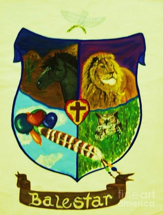 Lion Painting - Balestar Crest by Jamey Balester