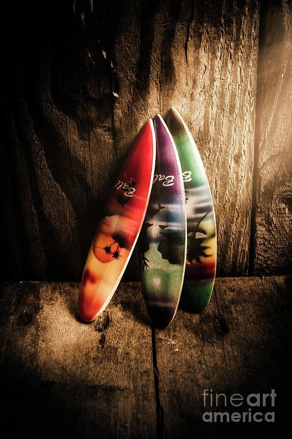 Surfboard Photograph - Bali Beach Surf Holiday Scene by Jorgo Photography - Wall Art Gallery
