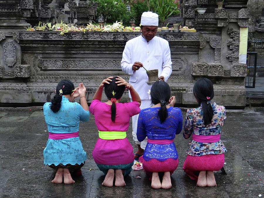 Unschooling Photograph - Bali Temple Women Blessing by Exploramum Exploramum