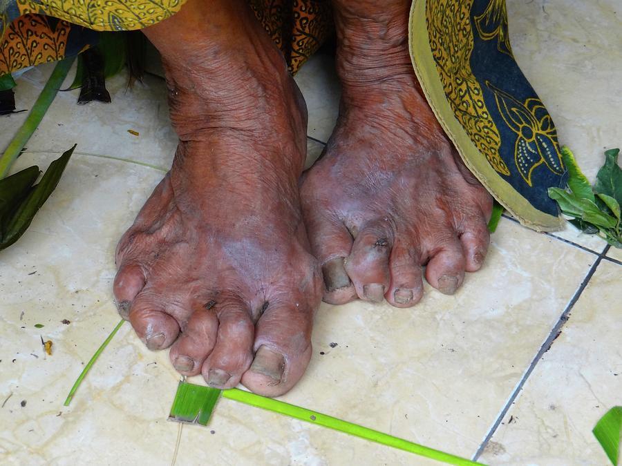 Unschooling Photograph - Balinese ladys feet by Exploramum Exploramum