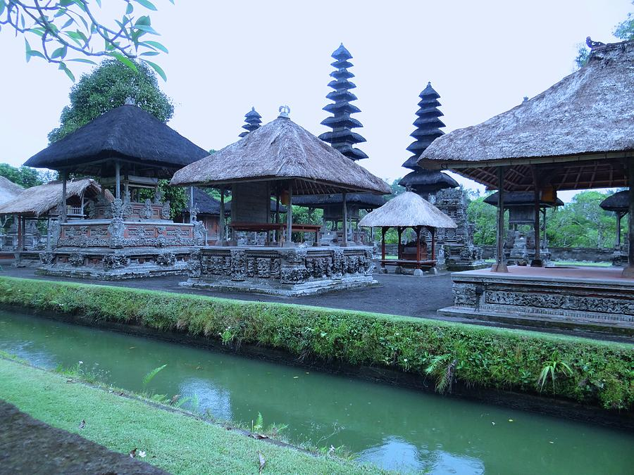 Unschooling Photograph - Balinese Temple by the water by Exploramum Exploramum