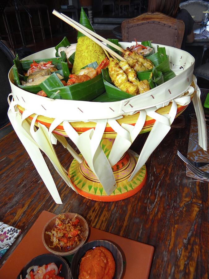 Unschooling Photograph - Balinese Traditional Dinner Basket by Exploramum Exploramum