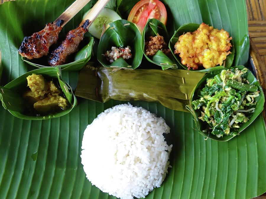 Unschooling Photograph - Balinese Traditional Lunch by Exploramum Exploramum