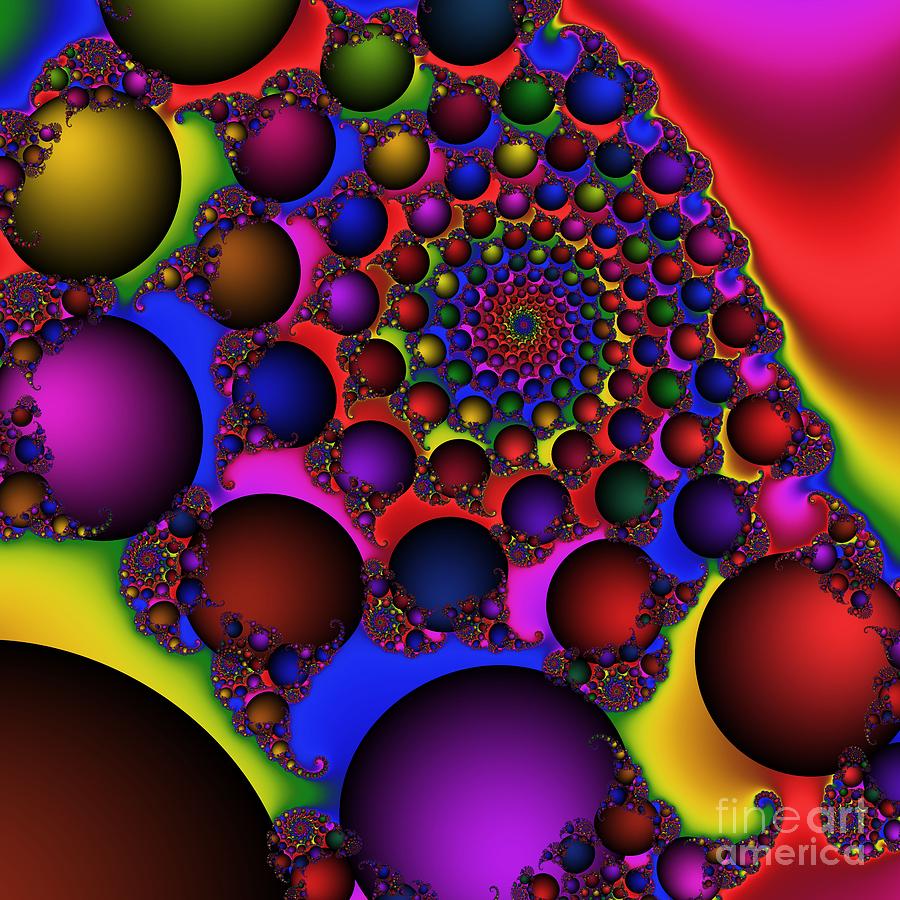 Abstract Digital Art - Ball Galaxy 203 by Rolf Bertram