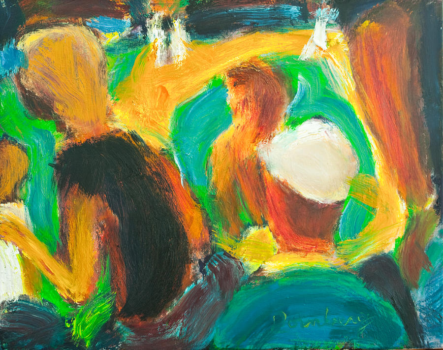 Oil Painting - Ball Game by Bob Dornberg