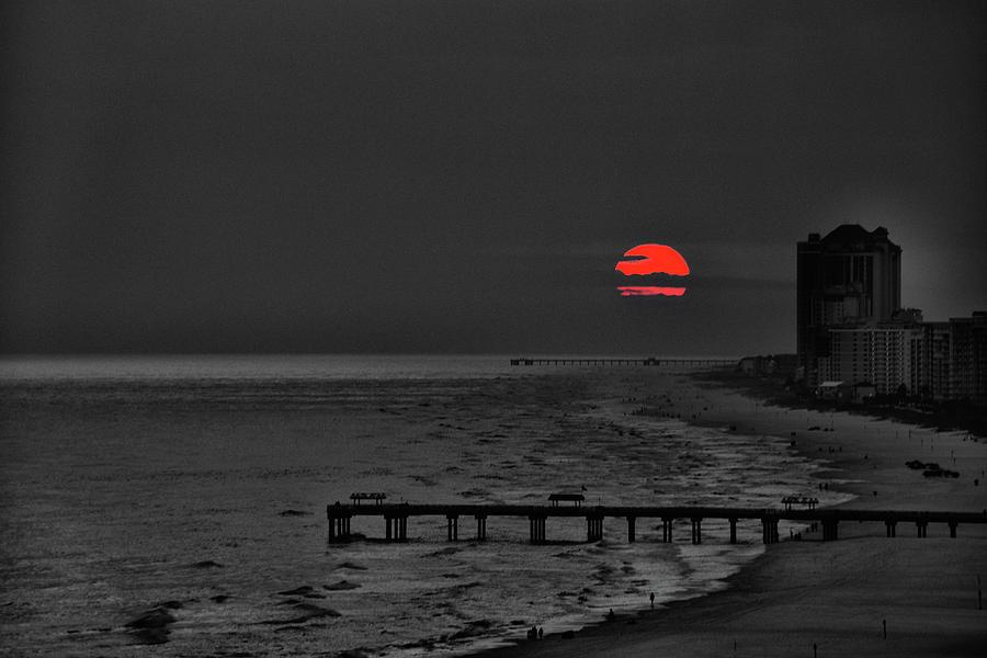 Alabama Photograph - Ball Of Fire Sunset  by Gej Jones