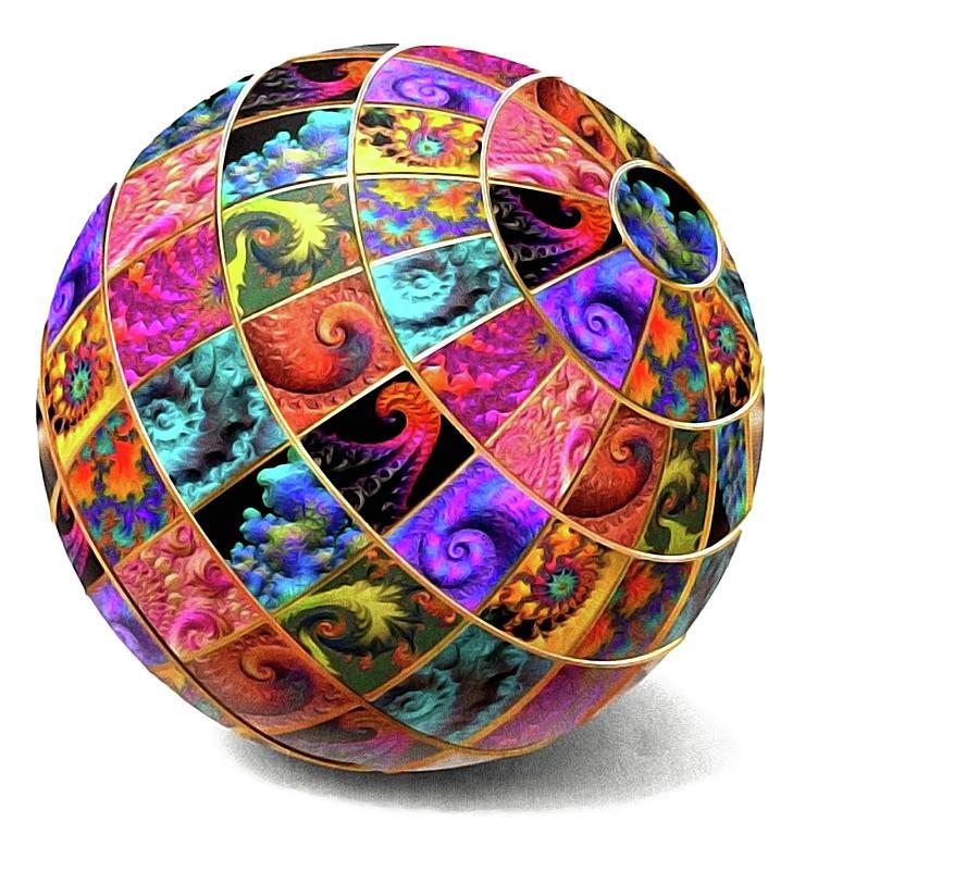 Ball Of Fractals Digital Art