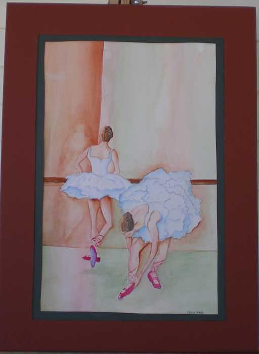 Ballarinas Painting by Gloria Wells
