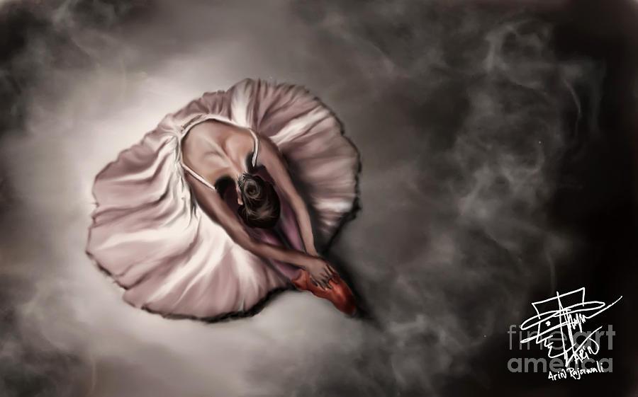 Ballerina Digital Art - Ballerina by Arin Rajawali