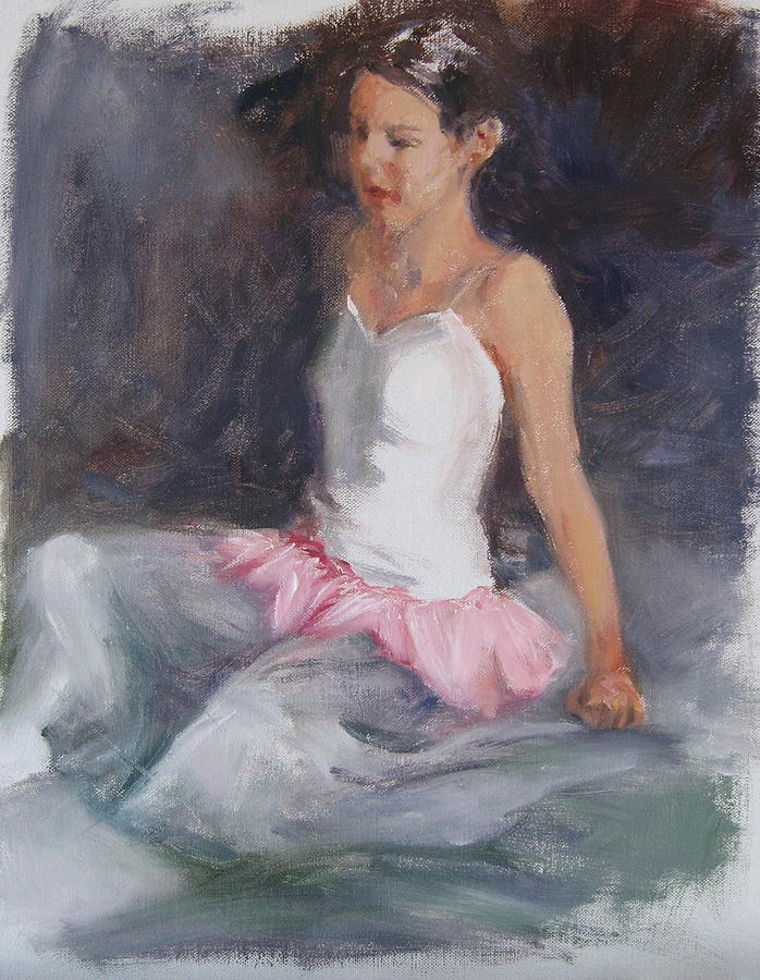 Ballerina Painting - Ballerina At Rest by Connie Schaertl